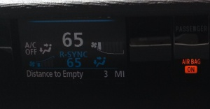 Distance to Empty = 3 Miles