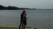 Lynne and Travis Fishing!